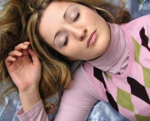Woman sleeping naturally